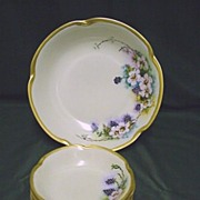 REDUCED Bavarian Porcelain Serving Bowl and Six Individual Servings