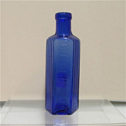 SALE Cobalt Glass Poison Bottle