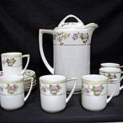 SALE Coffee Set Nippon Porcelain Service for Six  $195