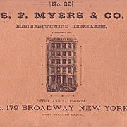 SALE S. F. Myers & Co. Manufacturing Jewelers Watch Catalog