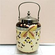 SALE Bristol Glass Biscuit Jar