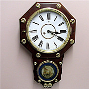 SALE Antique Rosewood Chiming Wall Clock  Fully Restored 100% Original