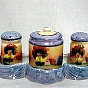SALE Lusterware Condiment Set Complete