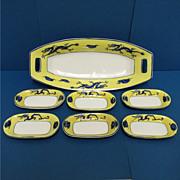 SALE Nippon Porcelain Relish Set Service for 6