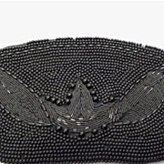REDUCED Hand Bag Black Beaded Clutch Purse