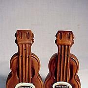 SALE Guitar Salt and Pepper Set Opryland USA Souvenir