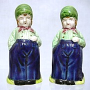 SALE Salt and Pepper Set Dutch Boys Shakers