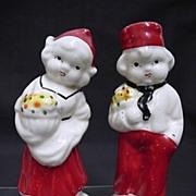 SALE Salt and Pepper Set Dutch Couple Shakers