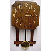 SALE Misson Wall Clock Oak Arts and Craft Period