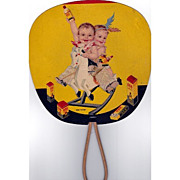 REDUCED 666 Twins 1935 Advertising Fan Lithograph
