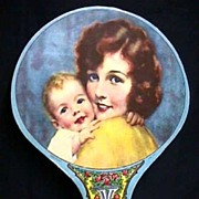 REDUCED Advertising Fan Chromolithograph Advertising Grinnell Bros. Music House