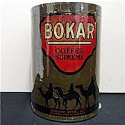 REDUCED Advertising Coffee Tin Bokar