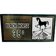 SALE Black Horse Brewery Ale Advertising Sign