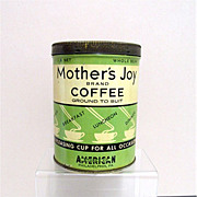 REDUCED Mothers  Joy  Advertising Coffee  Tin