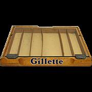 SALE Gillette Razor Counter Top Retail Case