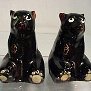SALE Salt and Pepper Shaker Set Sitting Bears