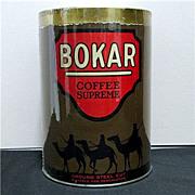 SALE Coffee Tin Bokar Advertising Near Mint