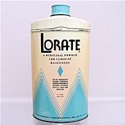 SALE Lorate Talc  Advertising Talcum Tin 50% OFF