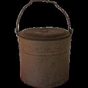 SALE Tin Bucket or Pail