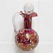 REDUCED Cruet  Red Iridescent American Glass