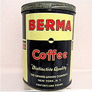 SALE Berma Coffee Advertising Tin