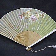 REDUCED Fan Japanese Hand Held Folding Hand Painted