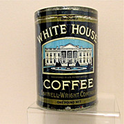 SALE White House Coffee Advertising Tin One Pound Size