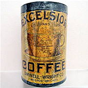 REDUCED Excelsior Coffee Advertising Tin