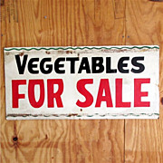 SALE Vegetables For Sale Advertising Sign 50% OFF
