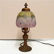 SALE Table Lamp Antique with Obverse Shade