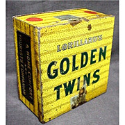 REDUCED Golden Twins Advertising Tobacco Tin