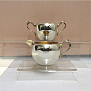 SALE Cream and Sugar Set American Silver Plate