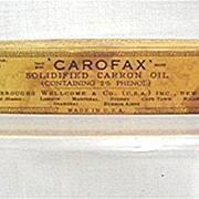 SOLD Carofax Carron Oil Old Drugstore Pharmacy Item