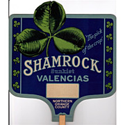 REDUCED Fan Advertising Promotional for Shamrock Sunkist Valencias Oranges