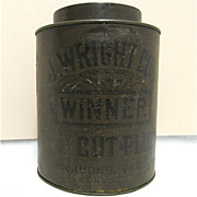 REDUCED Advertising Tobacco Tin For J. Wright Richmond Va.