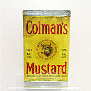 SALE Colmans Mustard 1 Lb. Spice Advertising Tin