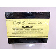 SALE Sherman Foods Extract of Garlic  Drugstore or Pharmacy Advertising Box