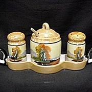 SALE Condiment Set Lusterware Chikaramachi Porcelain