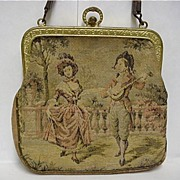 REDUCED Woven Silk Tapestry Hand Bag or Purse