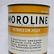 SOLD Tin Unopened Moroline Petroleum Jelly Near Mint