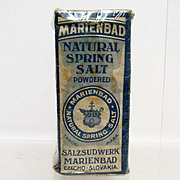 SALE Marienbad Natural Spring Salt Unopened Pharmacy Item