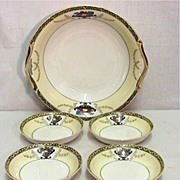 REDUCED Noritake Porcelain Bowl and Four Servings