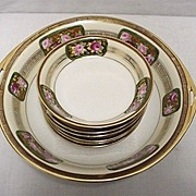 SALE Nippon Porcelain Service for Six   Bowl and 6 Servings