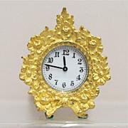 SALE Waterbury Fire Gilt Gold Clock