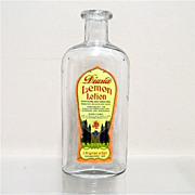 SALE Lemon Lotion Bottle from an Old Pharmacy