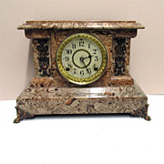 SALE Seth Thomas Antique American Adamantine Mantel Clock