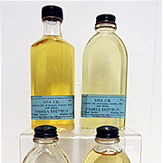 REDUCED Vita Oil Two Glass Bottles Mint and Unopened