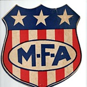 REDUCED MFA Insurance Advertising Fan for Missouri Farmer's Association