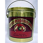 SALE Advertising Tin for Kettle Rendered Lard Near Mint