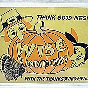 SOLD Wise Potato Chips Thanksgiving Advertising Sign